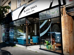Black Swan Dental Spa external view of shop front